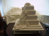 Rose Drape Wedding Cake