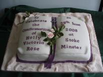 Holly's Confirmation Cake